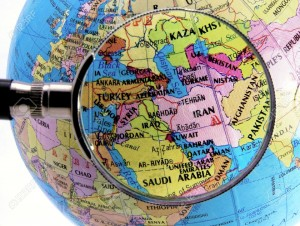 focus-on-middle-east-Stock-Photo-map