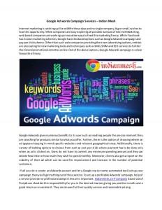 Google Ad services campaign